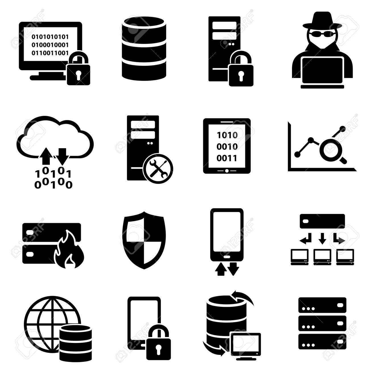 Computer, big data, technology icon set - 56698527