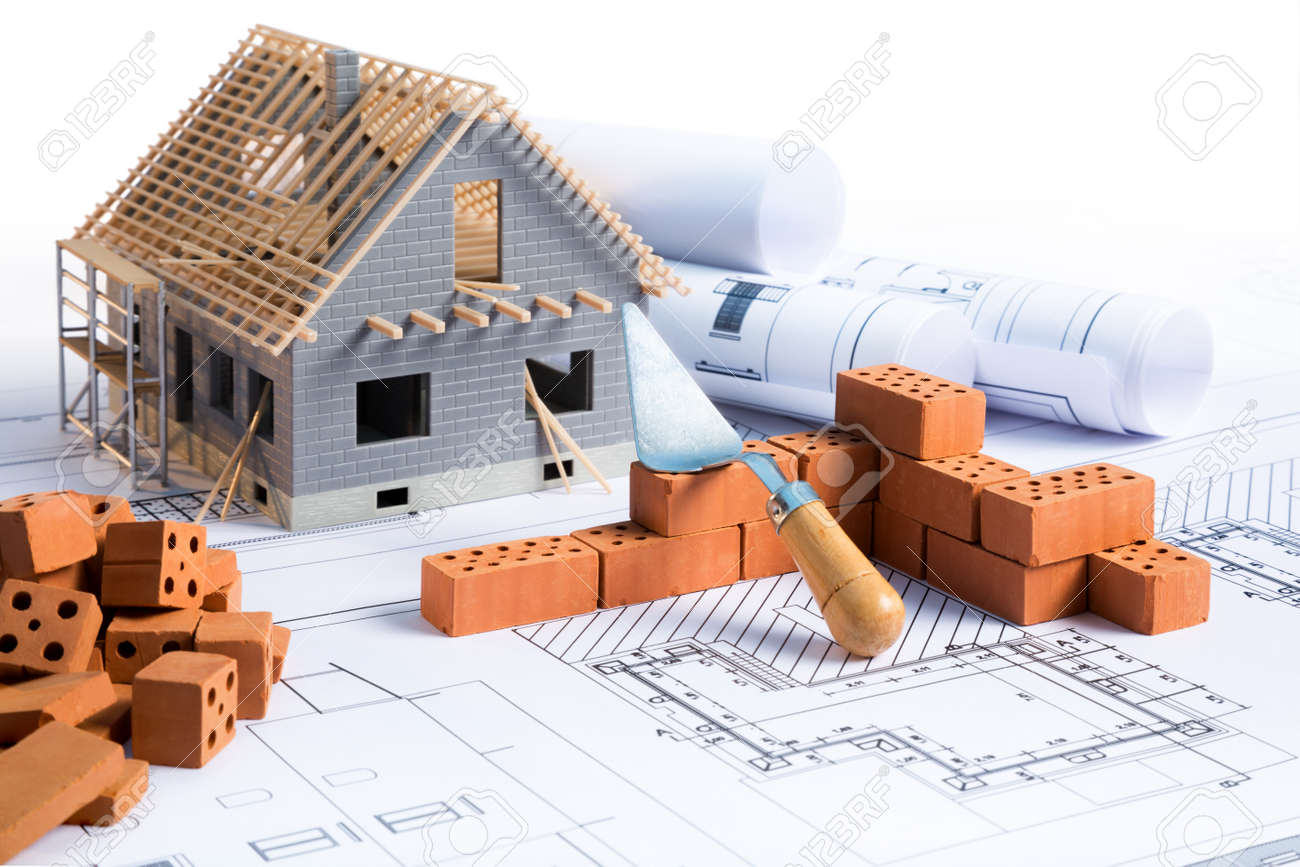 House in construction project with brick and blueprint stock photo house in construction project with brick and blueprint stock photo 41378319 malvernweather Images