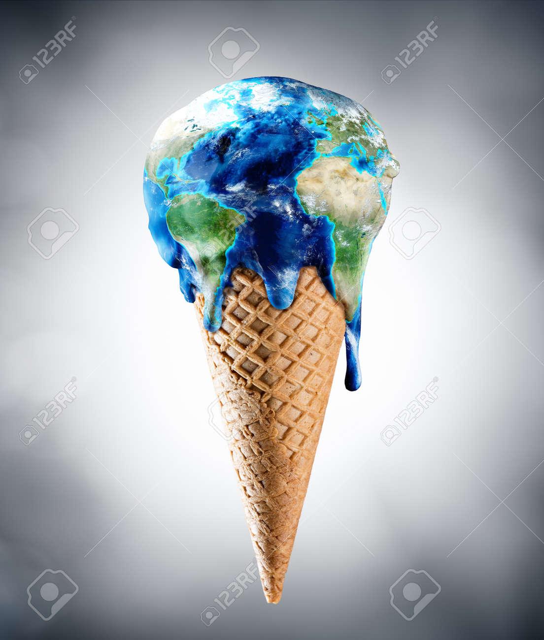 Ice Cream World - Climate Change Concept - 54425400