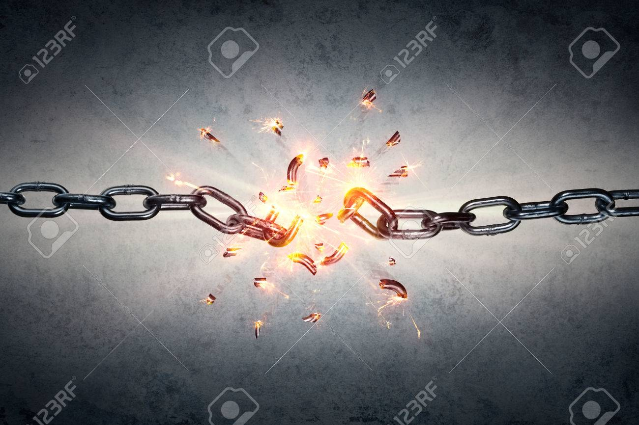 Broken Chain - Freedom And Separation Concept - 58821643