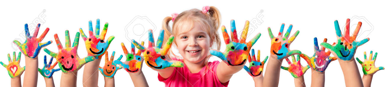 Children In Creativity - Hands Painted With Smiles - 60368822
