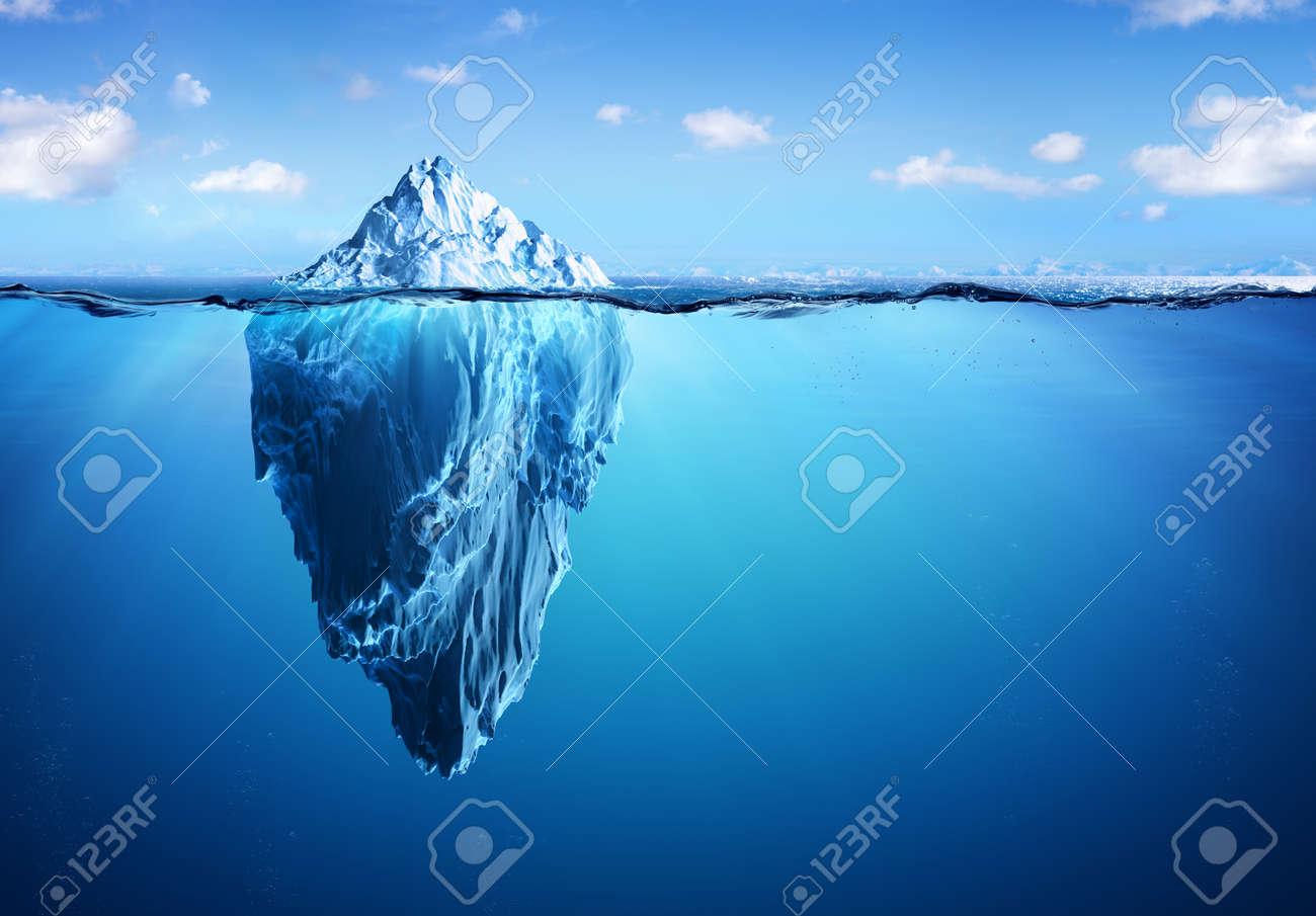 Iceberg - Hidden Danger And Global Warming Concept - 80013471