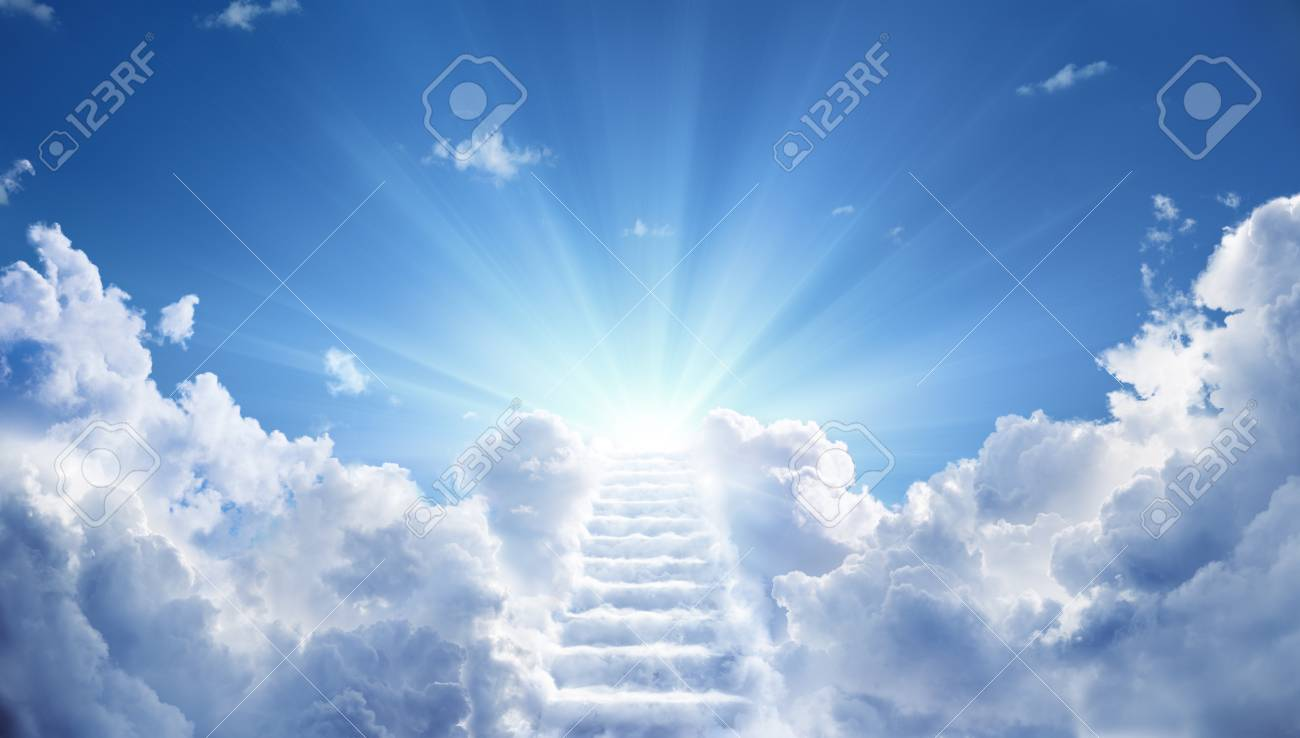 Stairway Leading Up To Heavenly Sky Toward The Light - 101150926