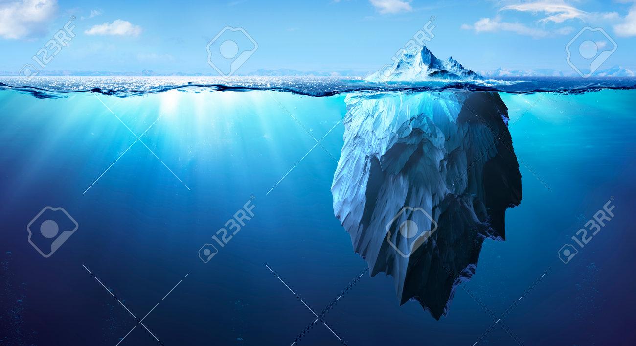 Iceberg - Underwater Risk - Global Warming Concept - 3d Rendering - 169657752