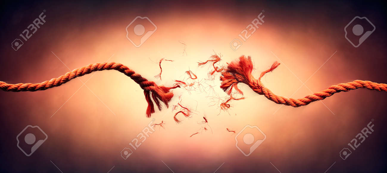 Broken Rope - Failure And Break Concept - This Image Contain Motion Blur With Stroboscopic Effect - 169657756