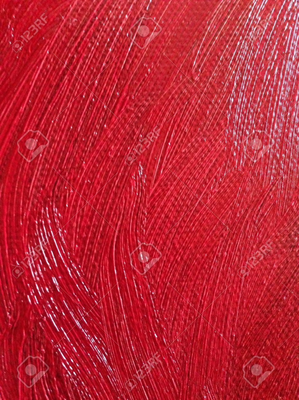 Red Oil Paint On Canvass Texture Stock Photo Picture And Royalty
