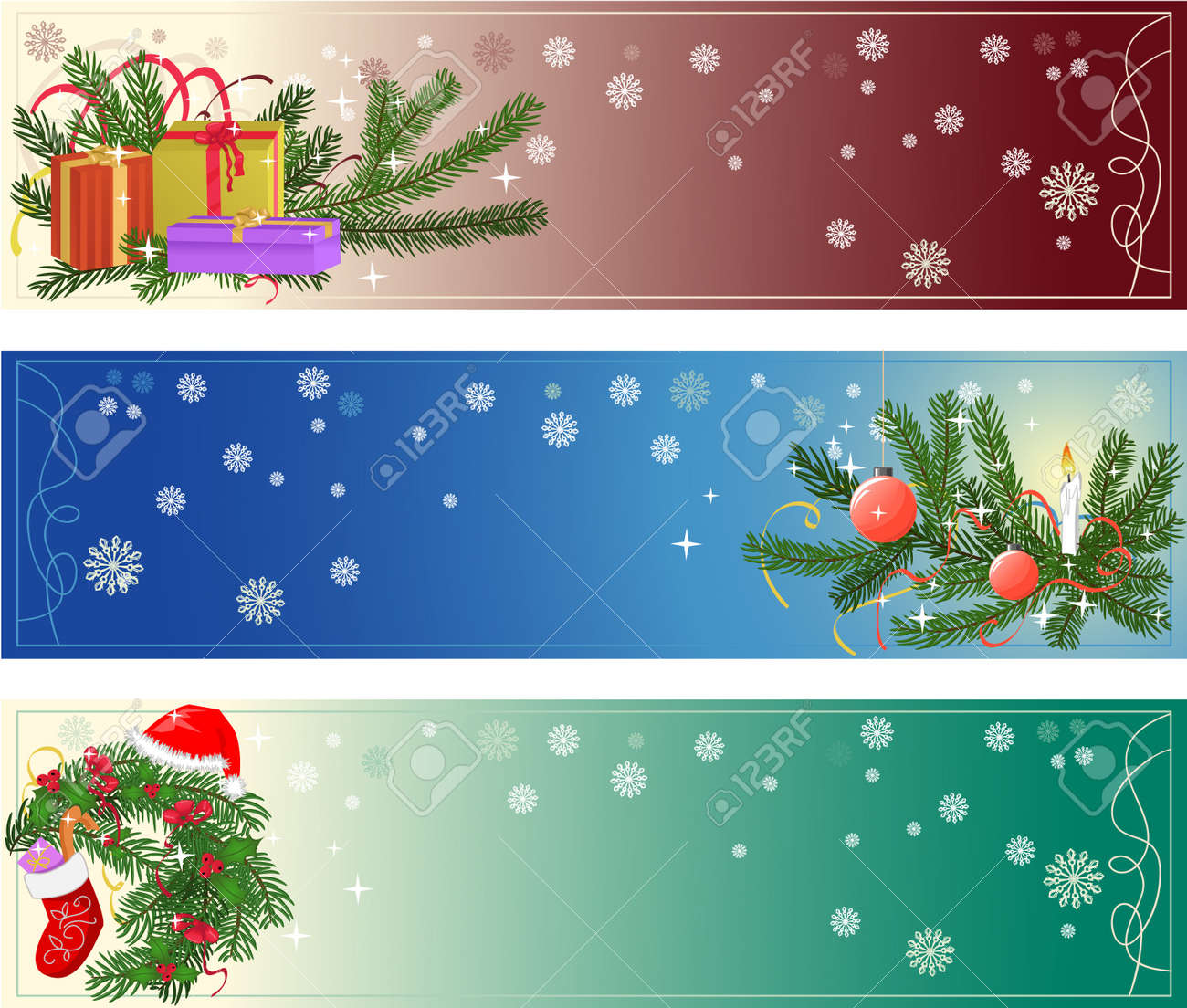 Christmas banners Stock Vector - 11322999