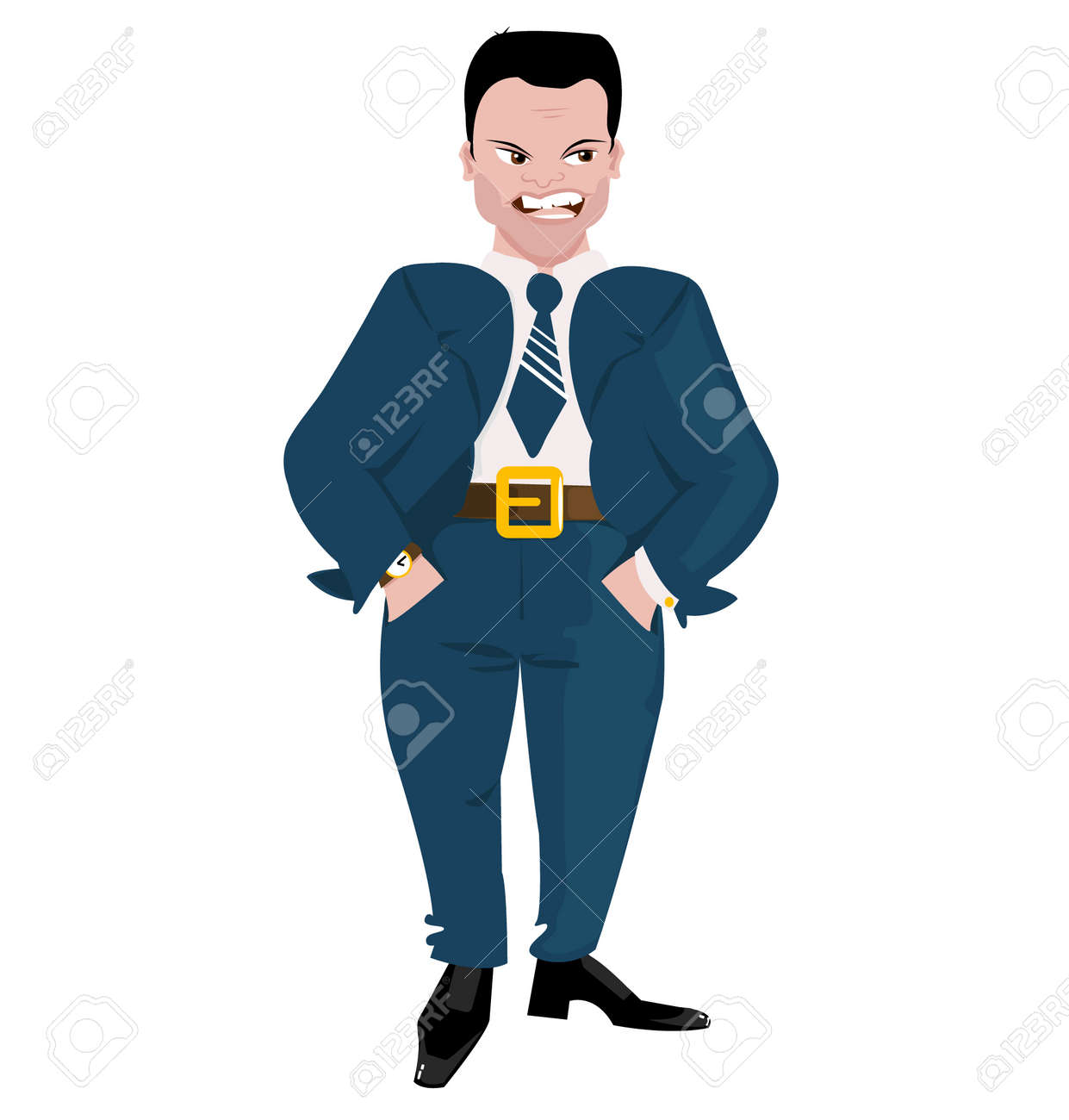 Evil Boss Stock Vector - 12954701