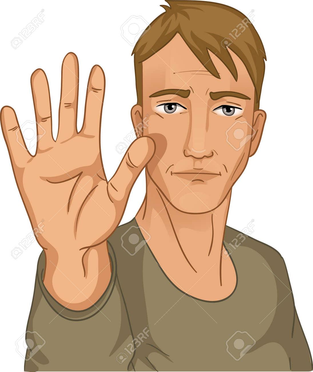 Man making stop gesture Stock Vector - 13104162