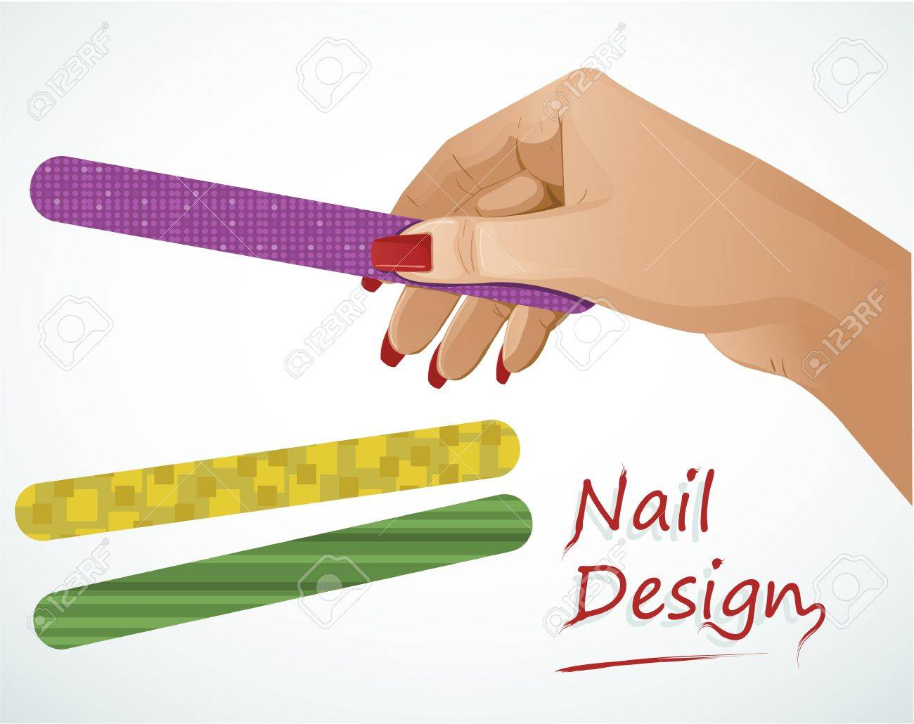 Woman hand holding a nail file Stock Vector - 15354784