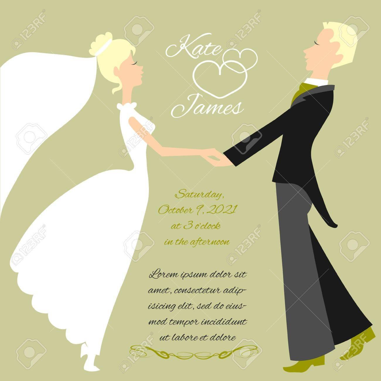 Wedding couple Stock Vector - 21700575