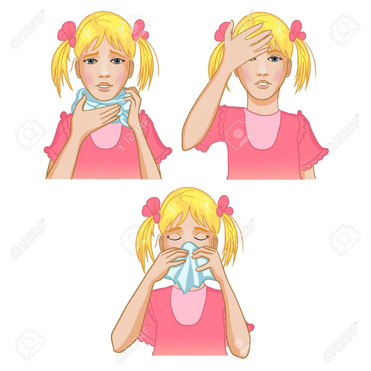 Girl got cold Stock Vector - 27249857