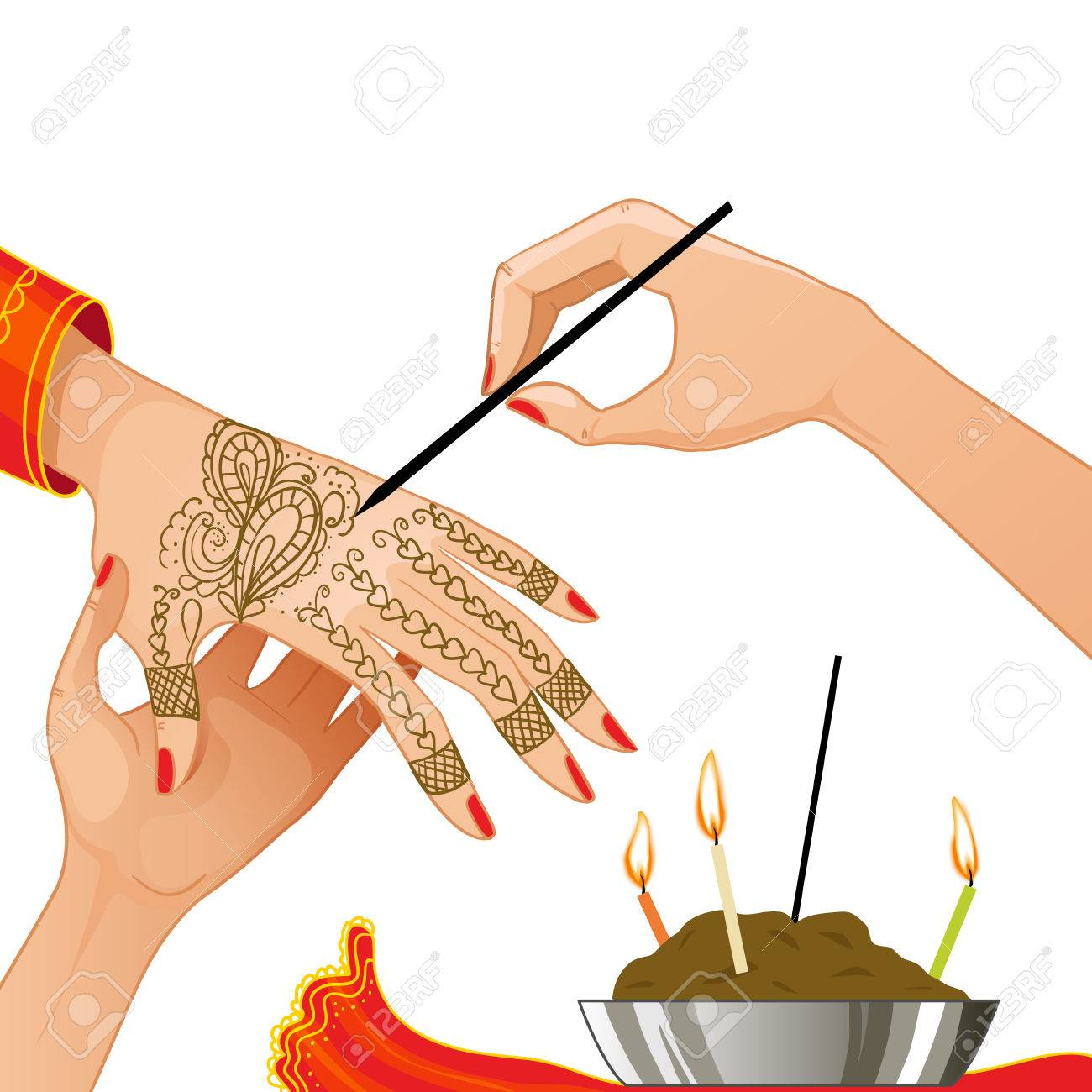 Image Of Ceremony At Henna Night Royalty Free Cliparts Vectors And