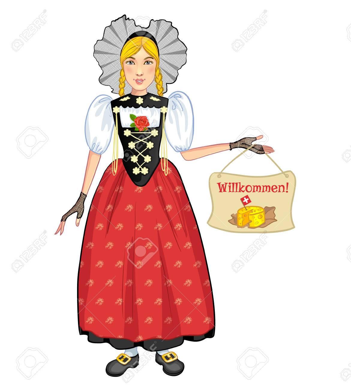 BerneAccueille Région Suisse De Dessinée Costume Bande Femme Jeune SuisseLa En National c54Rq3jLA