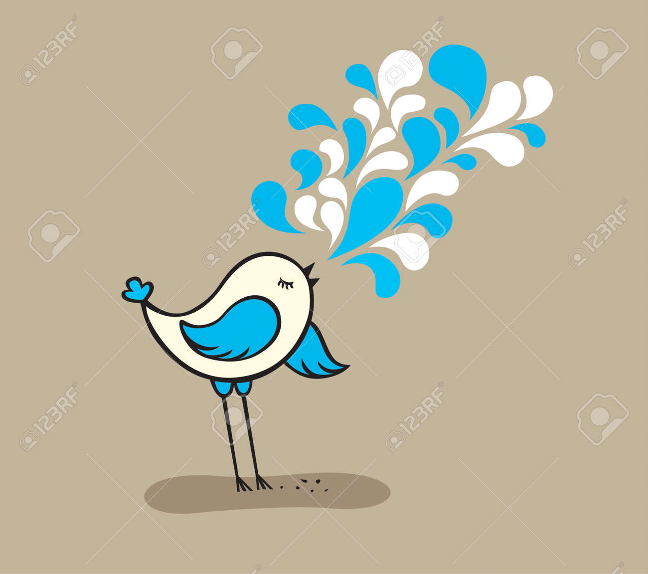 SINGING CUTE BIRD - 5125915