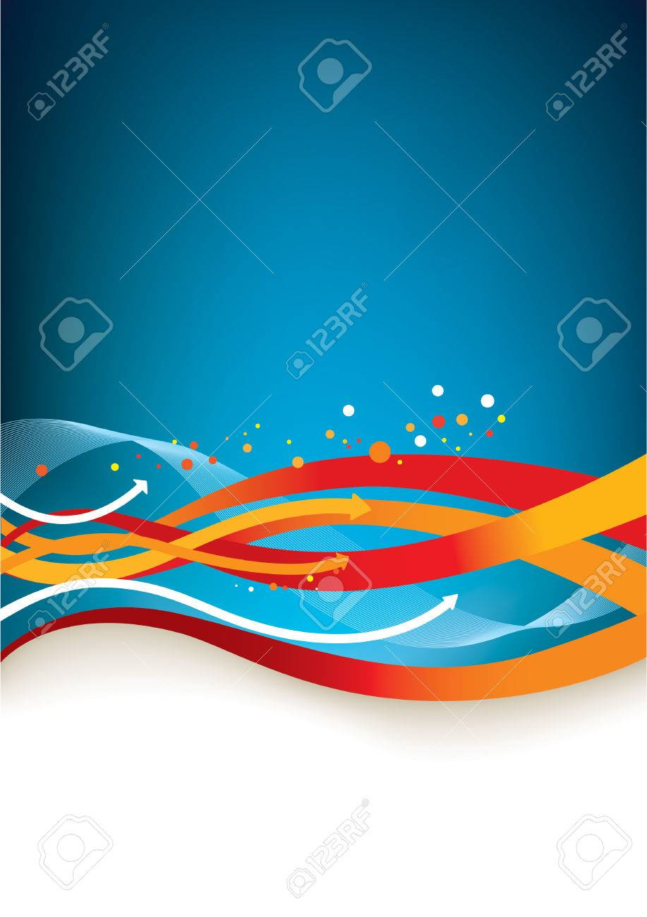 Abstract background - colorful arrows and lines - 5125935