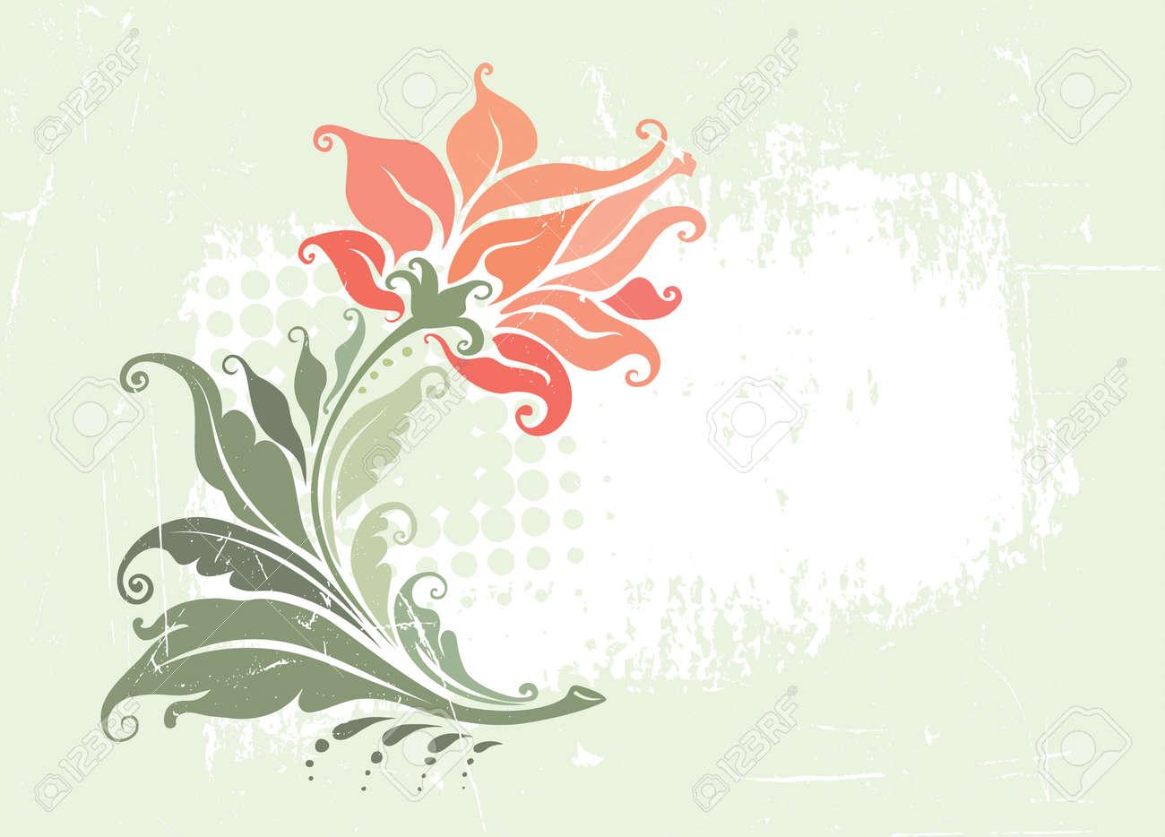 Decorative vintage floral frame - 5167702