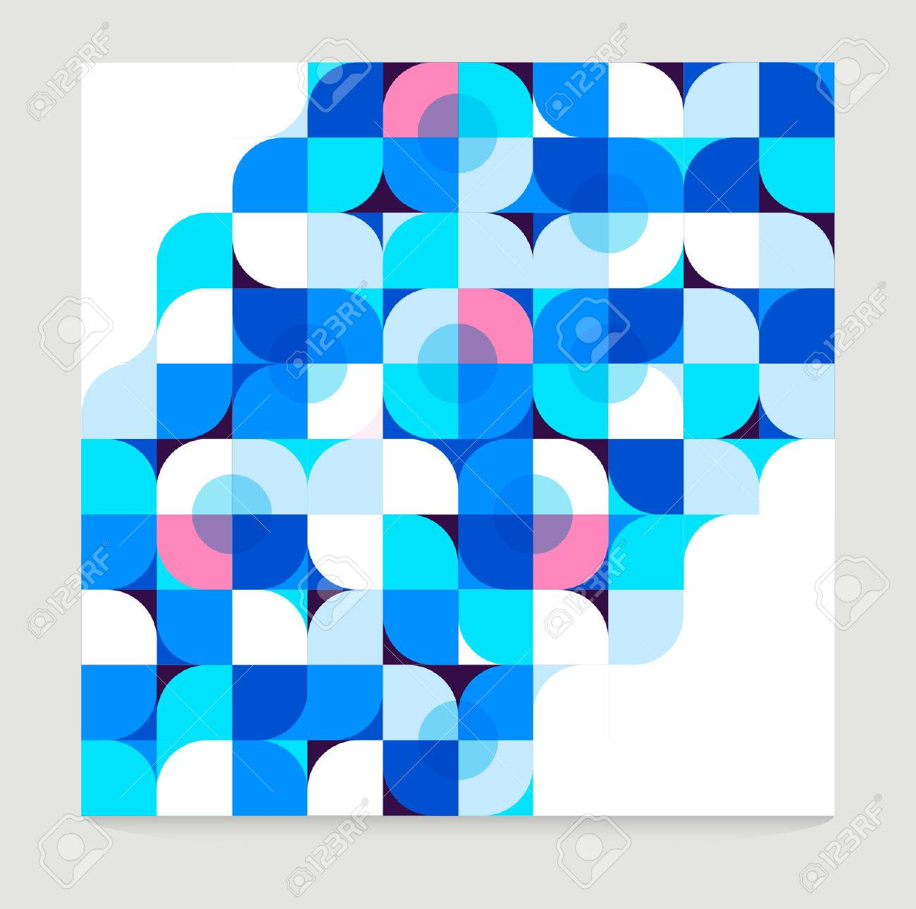 Vector Abstract Blue Geometric Background - 38662569
