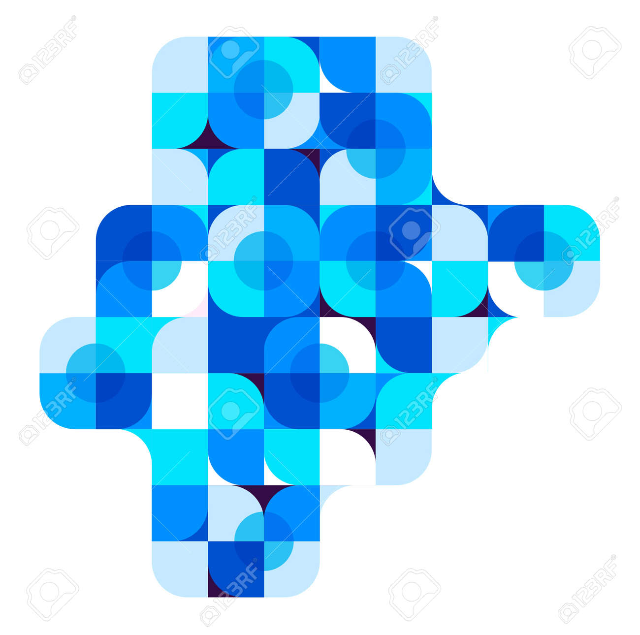 Vector Abstract Blue Geometric Background - 38662570