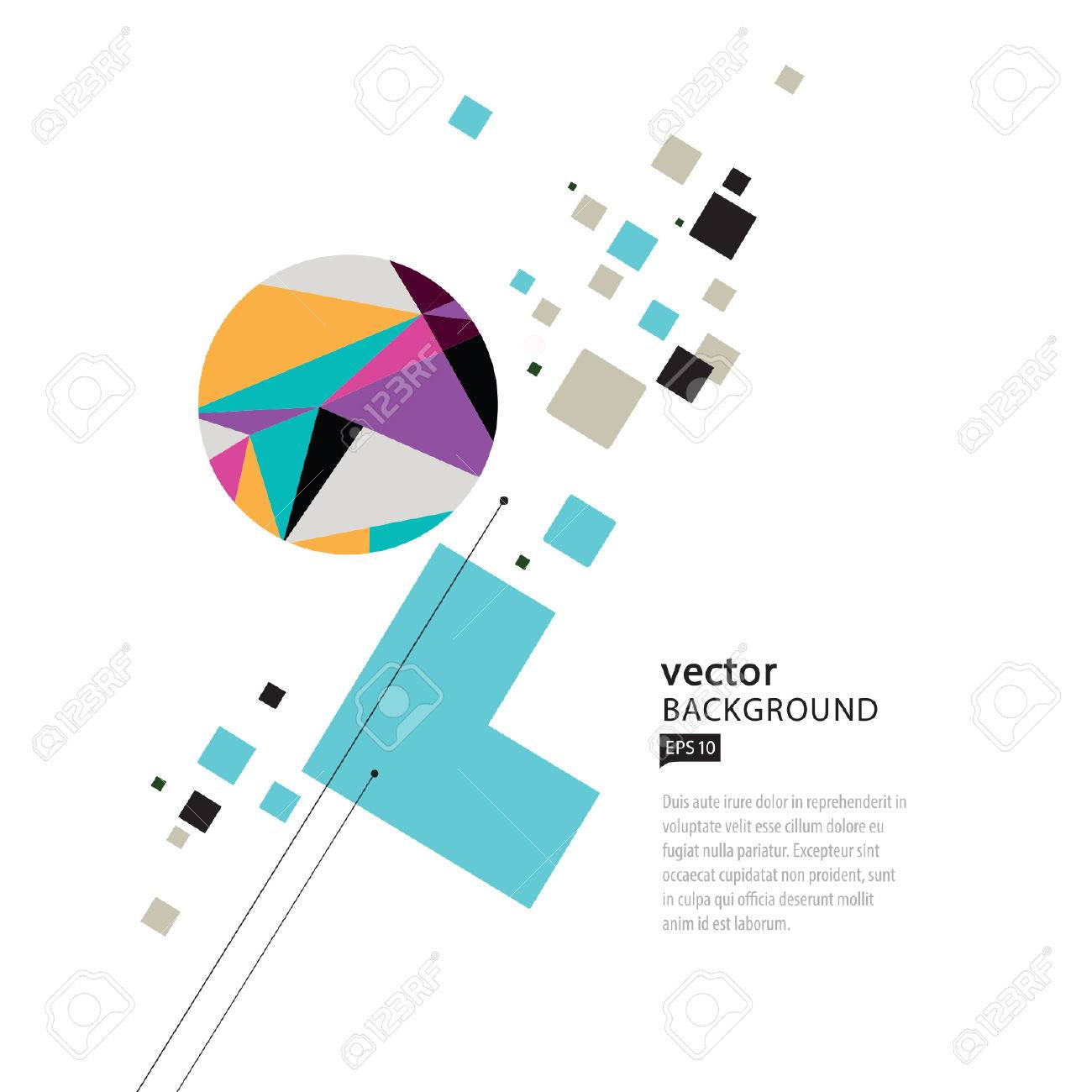 Vector Abstract Geometric Composition - 38662482