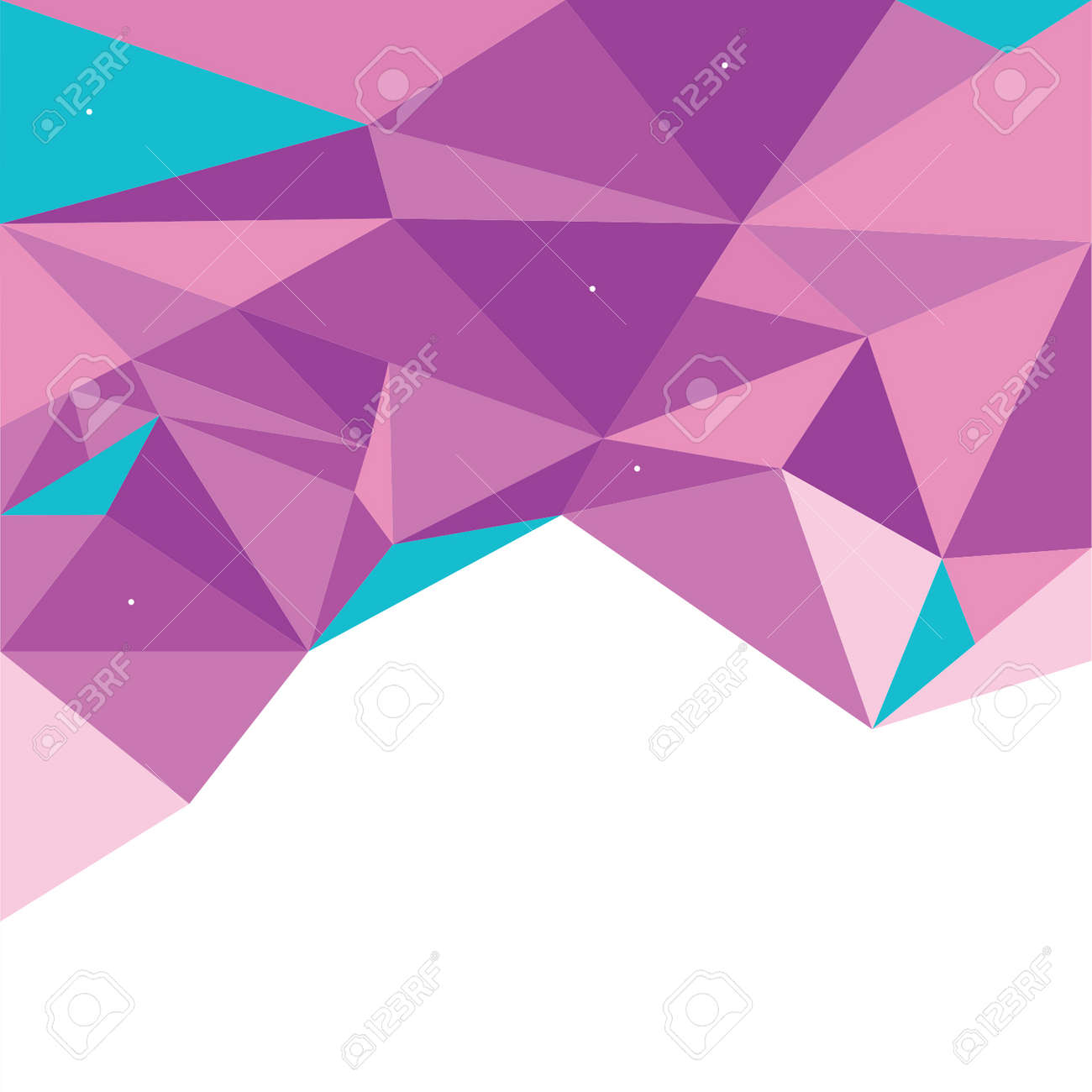 Vector Abstract Geometric Polygon Background - 38662576