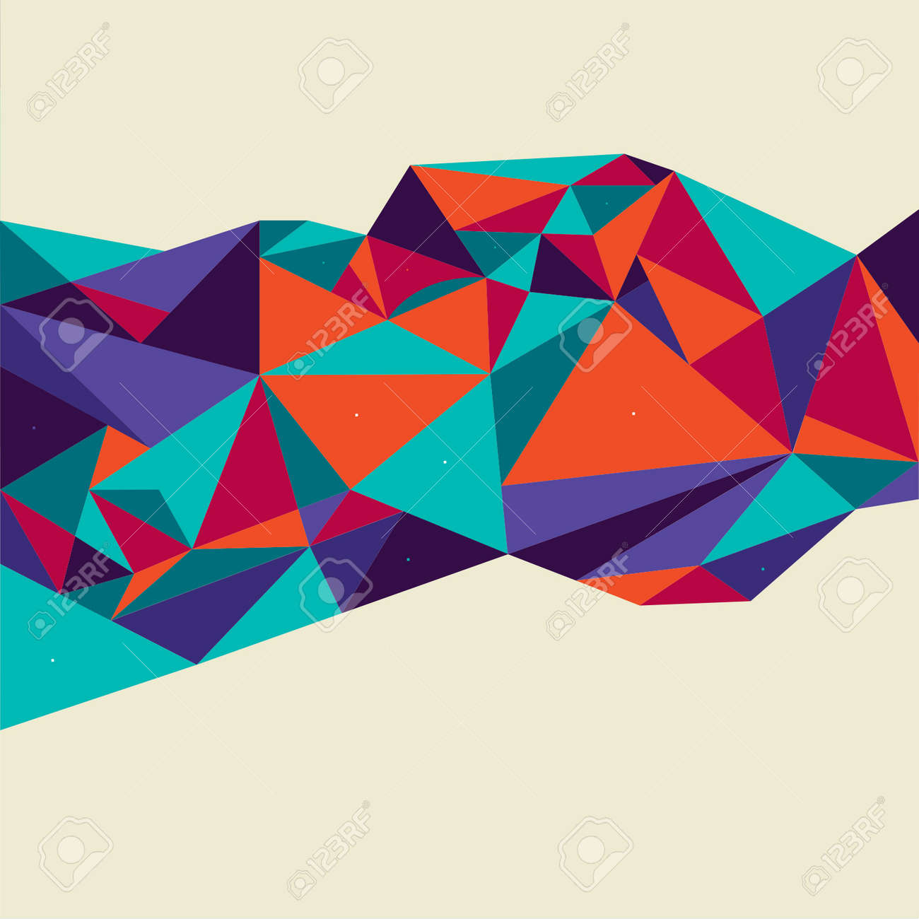 Vector Abstract Geometric Polygon Background. - 38662580