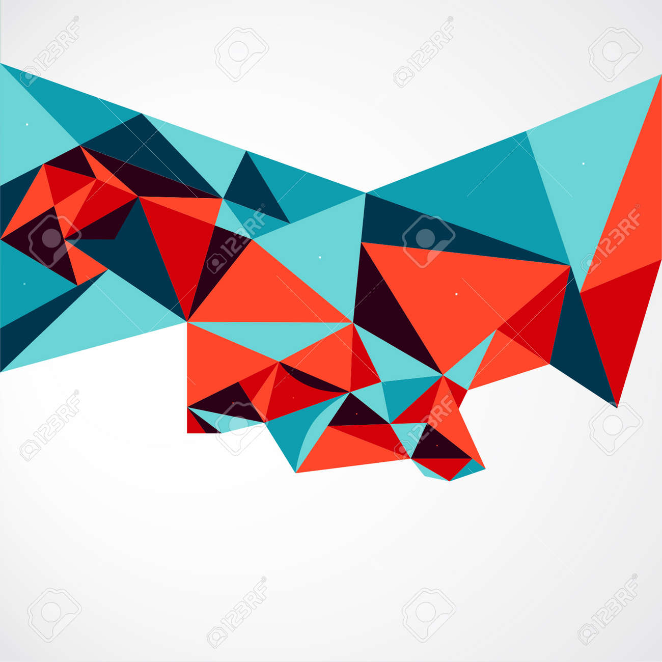 Vector Abstract Geometric Polygon Background. - 38662582