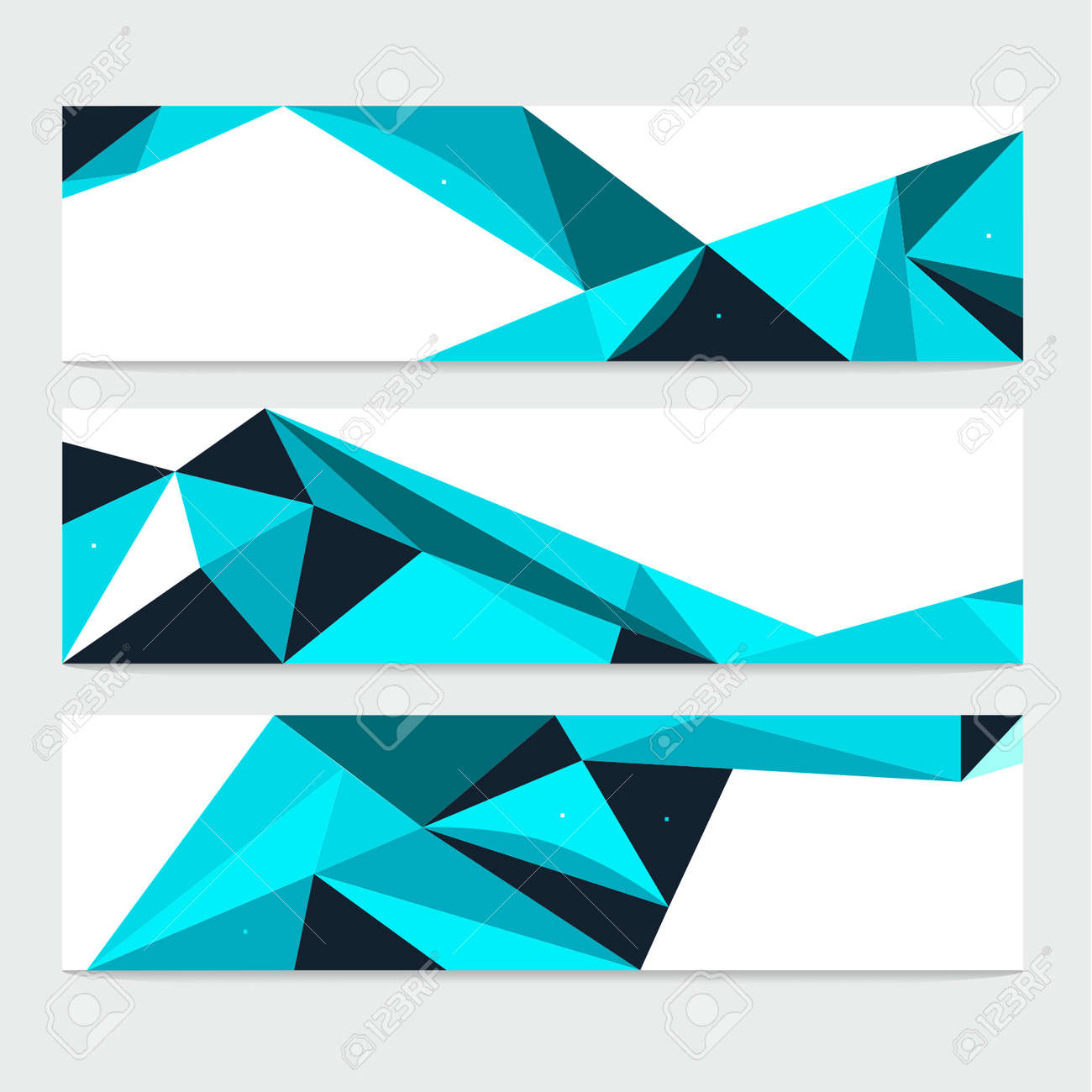 Vector Abstract Geometric Polygon Background. Header Set - 38662598