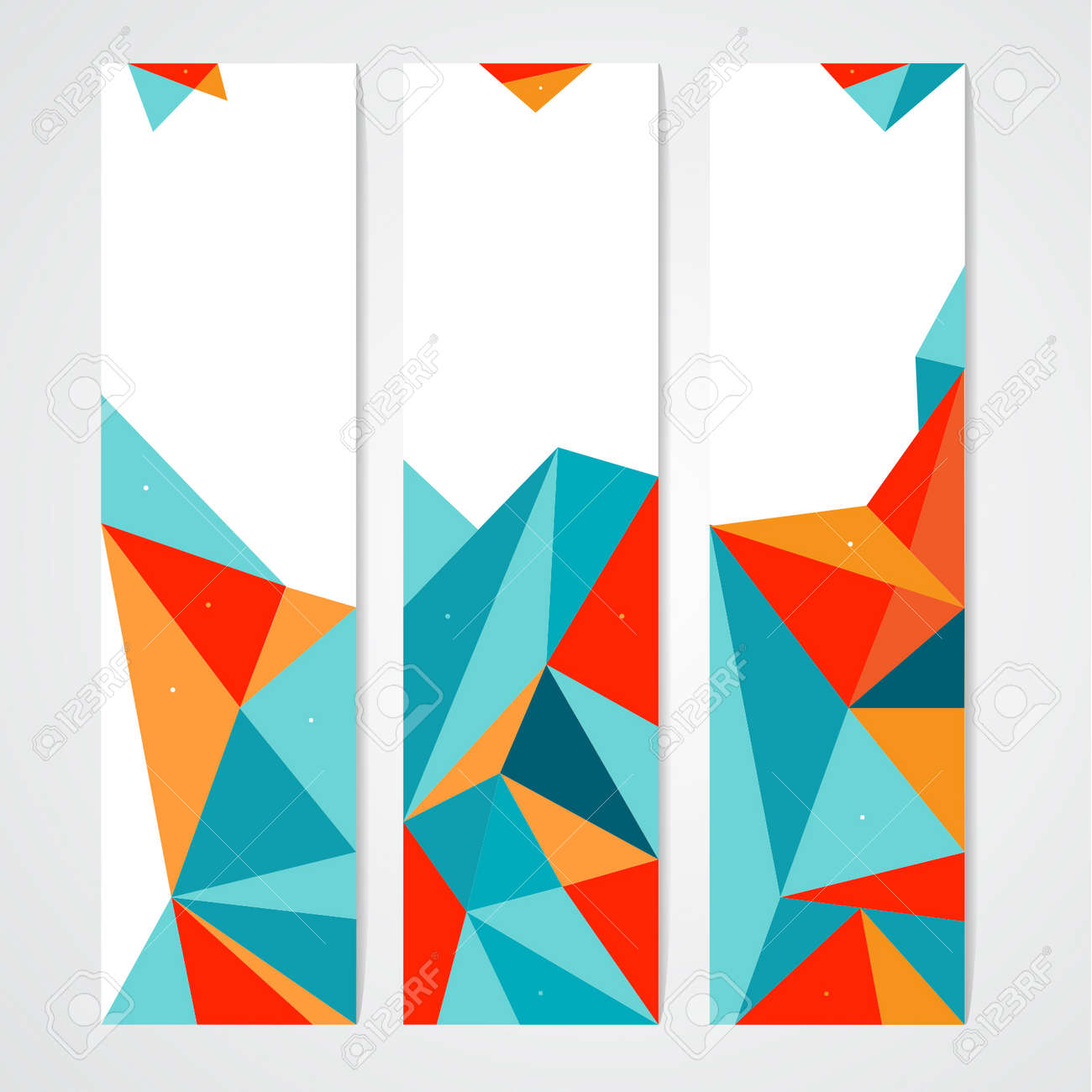 Vector Abstract Geometric Polygon Background. Header Set - 38662600