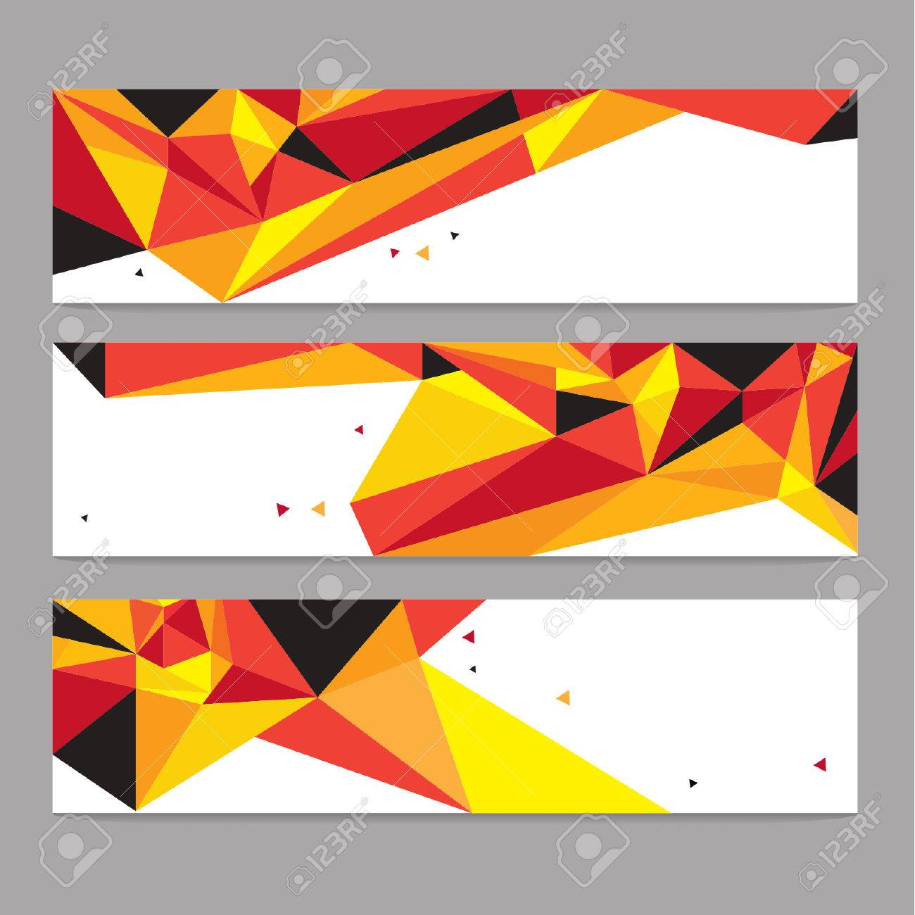 Vector Abstract Geometric Polygon Background. Header Set - 38662603