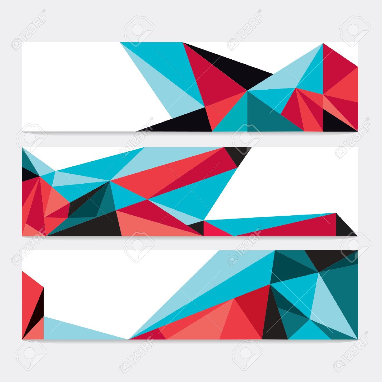 Vector Abstract Geometric Polygon Background. Header Set - 38662604