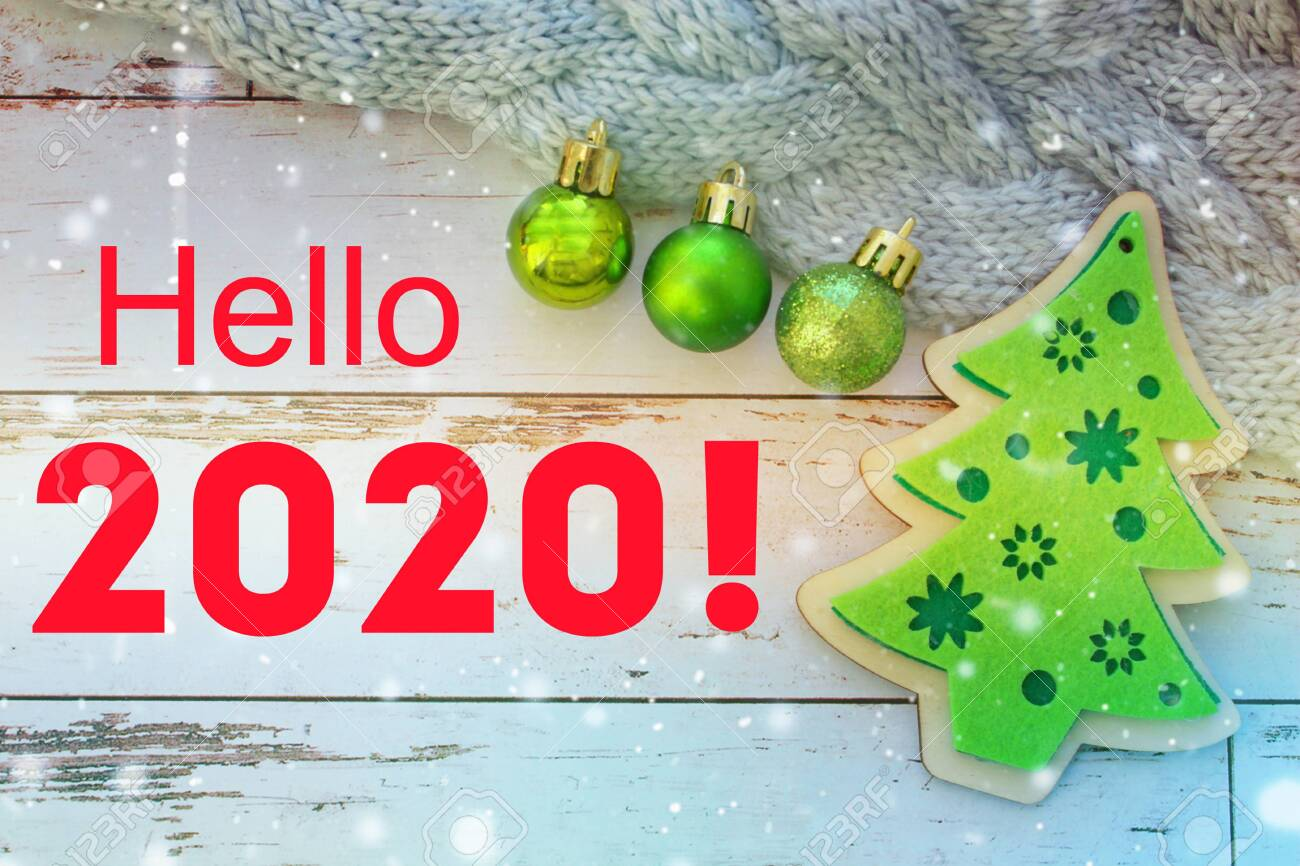 2020 Christmas Numbers 2020. New Year Background. The Numbers 2020. Christmas Decoration