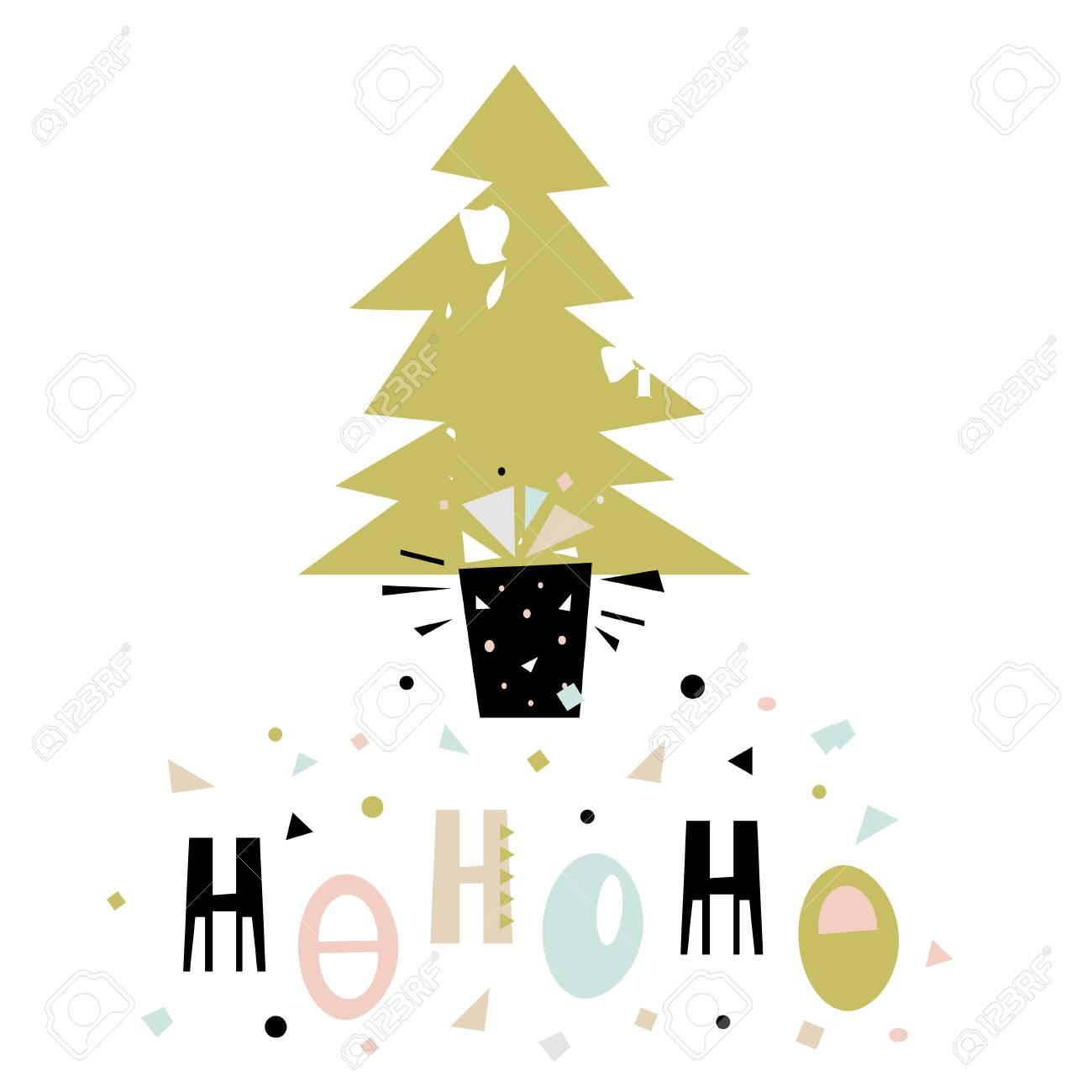Ho, Ho, Ho Winter Sagen. Weihnachtsgruß Hintergrund. Urlaub Winter ...