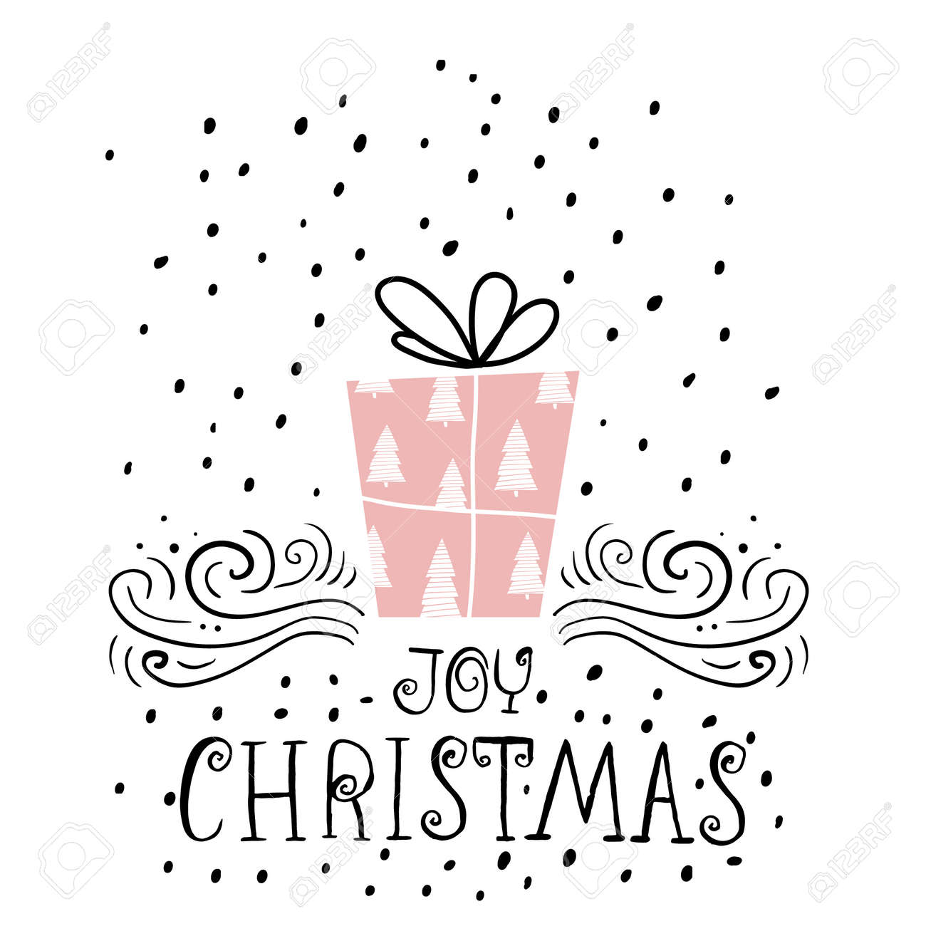 Joy christmas trendy design greeting card holiday winter template joy christmas trendy design greeting card holiday winter template with handwritten lettering x mass m4hsunfo