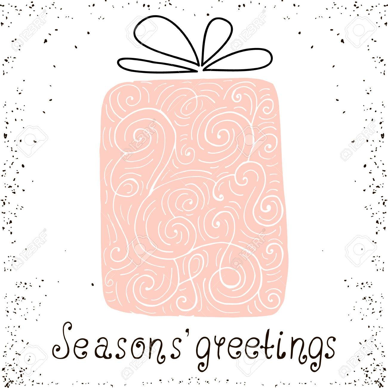 Best wishes christmas trendy design greeting card holiday winter x mass vector background with gift best wishes christmas trendy design greeting card holiday winter template with handwritten lettering m4hsunfo