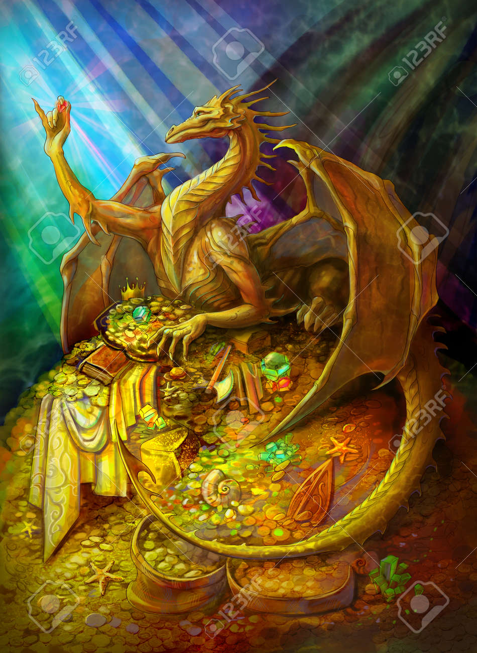 Image result for gold dragon