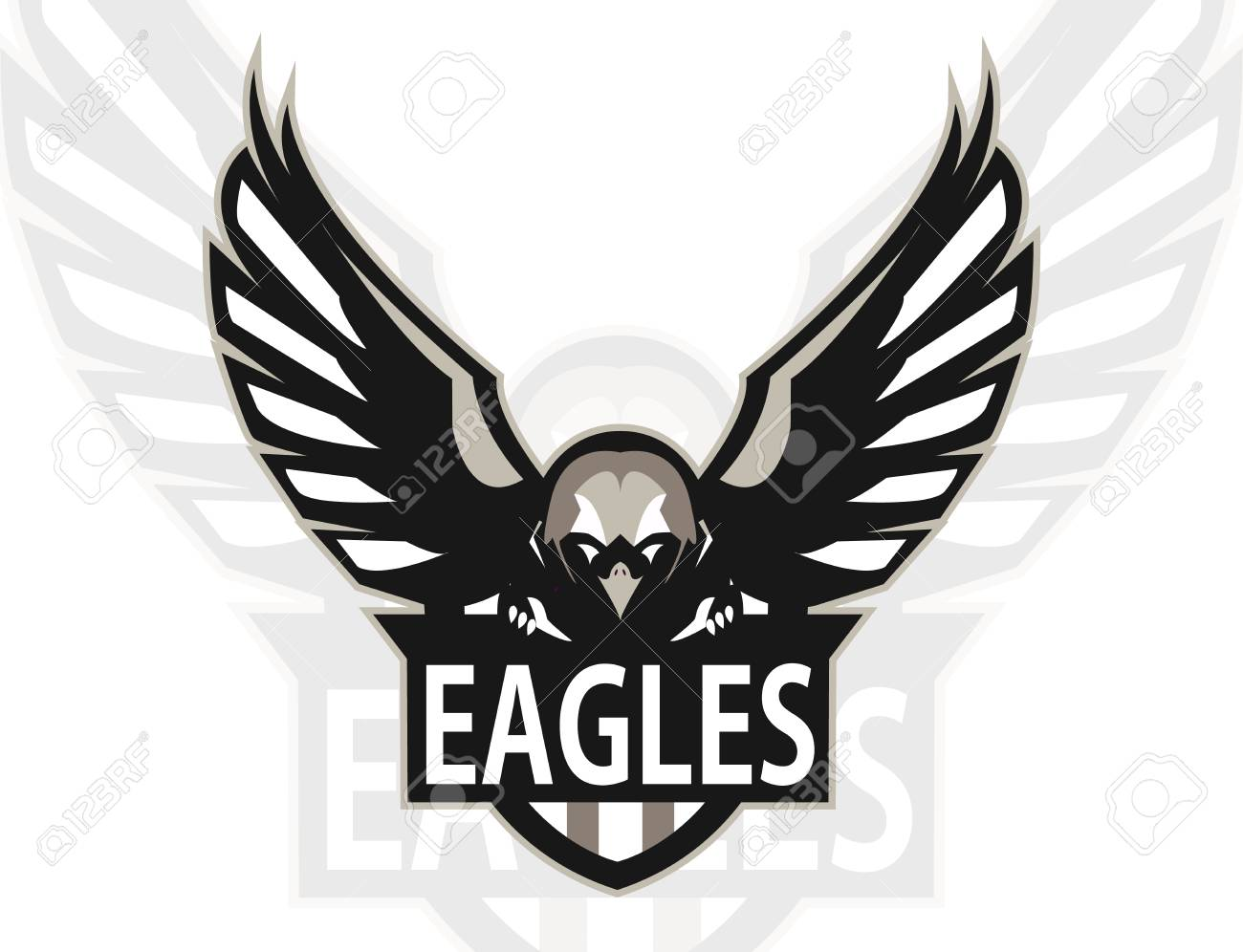 eagle logo mascot for a team sport logo vector illustration