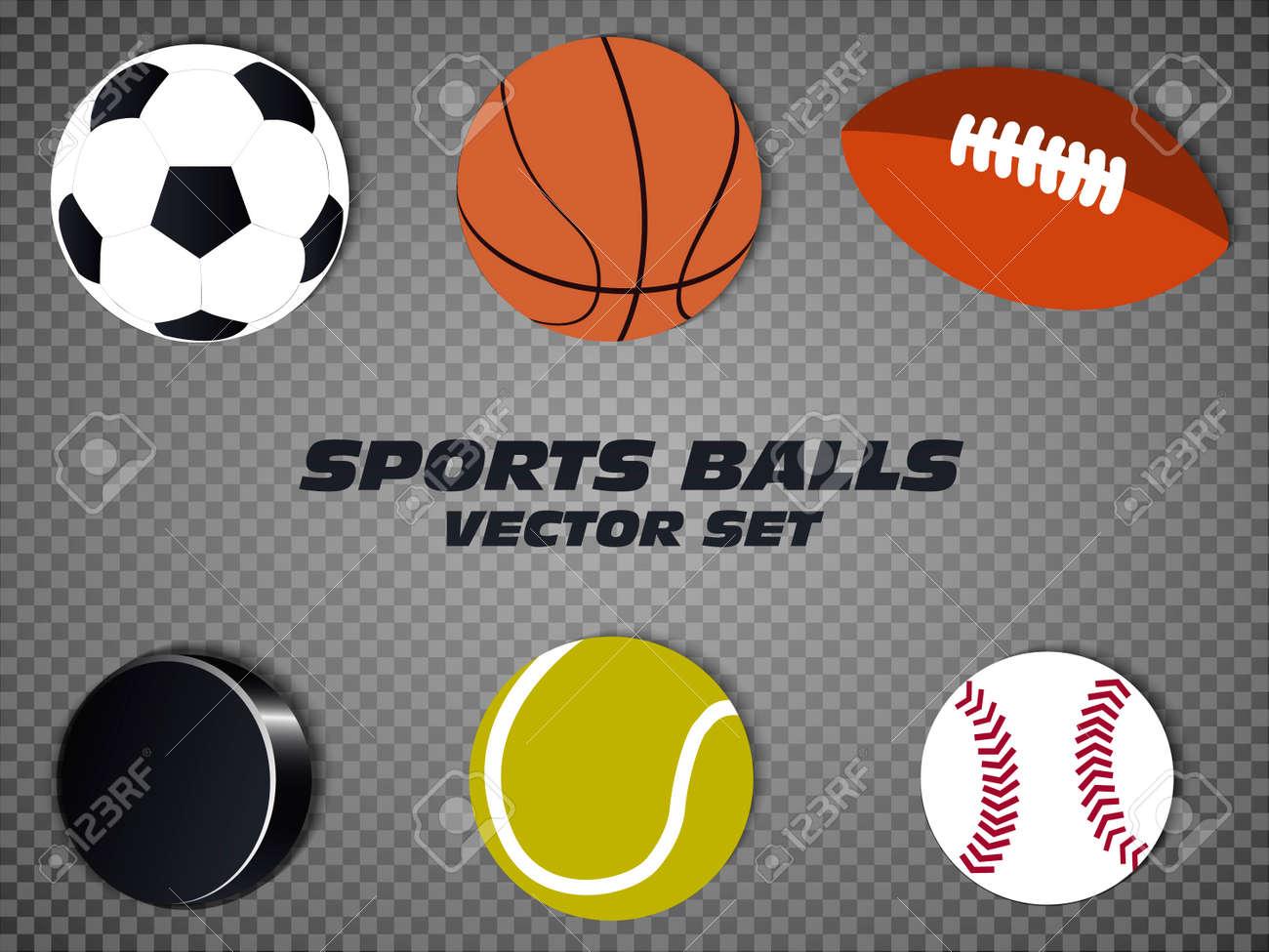 1f02337f94b Conjunto de vectores de pelotas de deporte. baloncesto, fútbol, ??tenis,