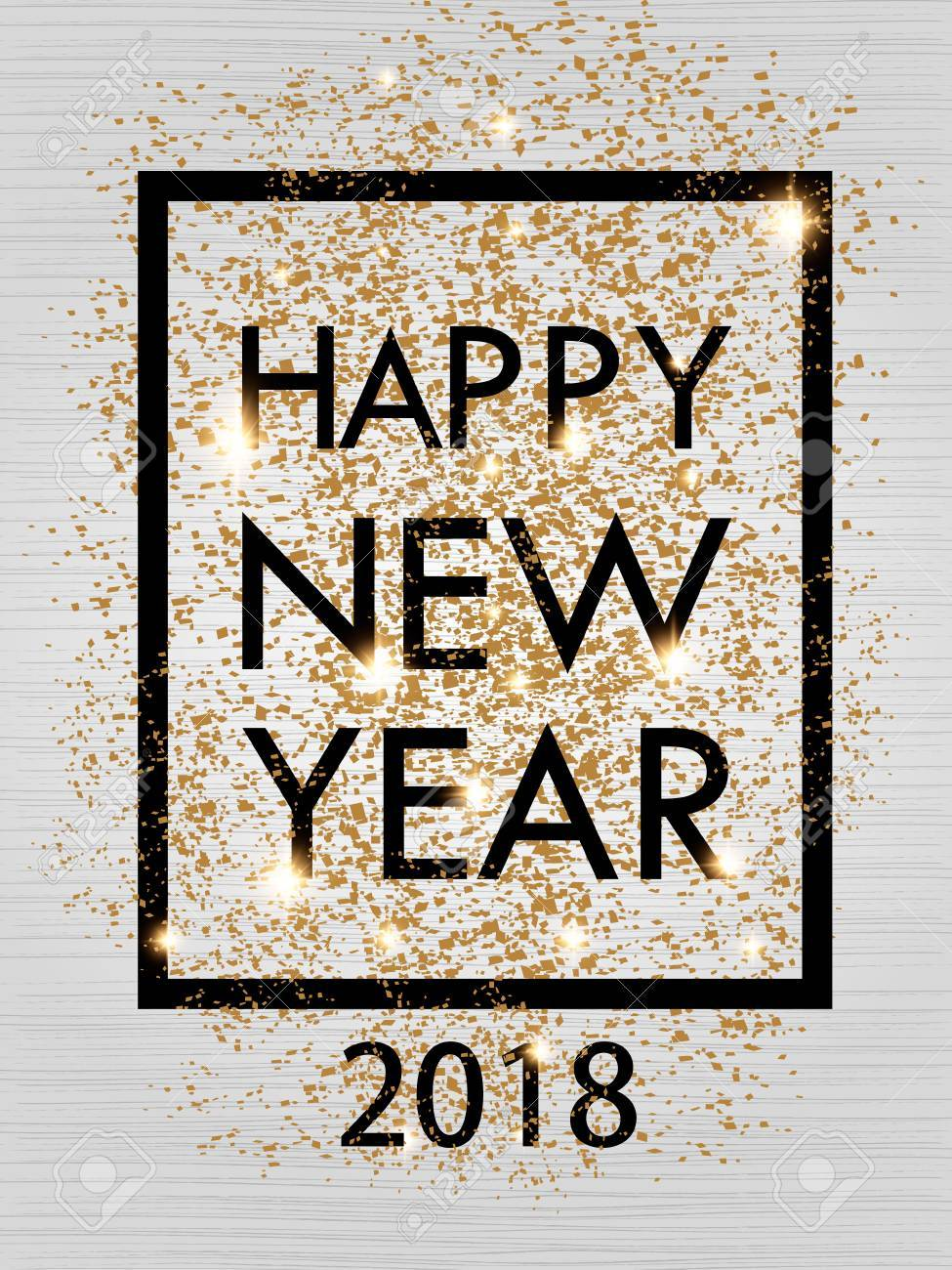 Happy new year 2018 gold and black color space for text in the happy new year 2018 gold and black color space for text in the frame christmas jeuxipadfo Image collections