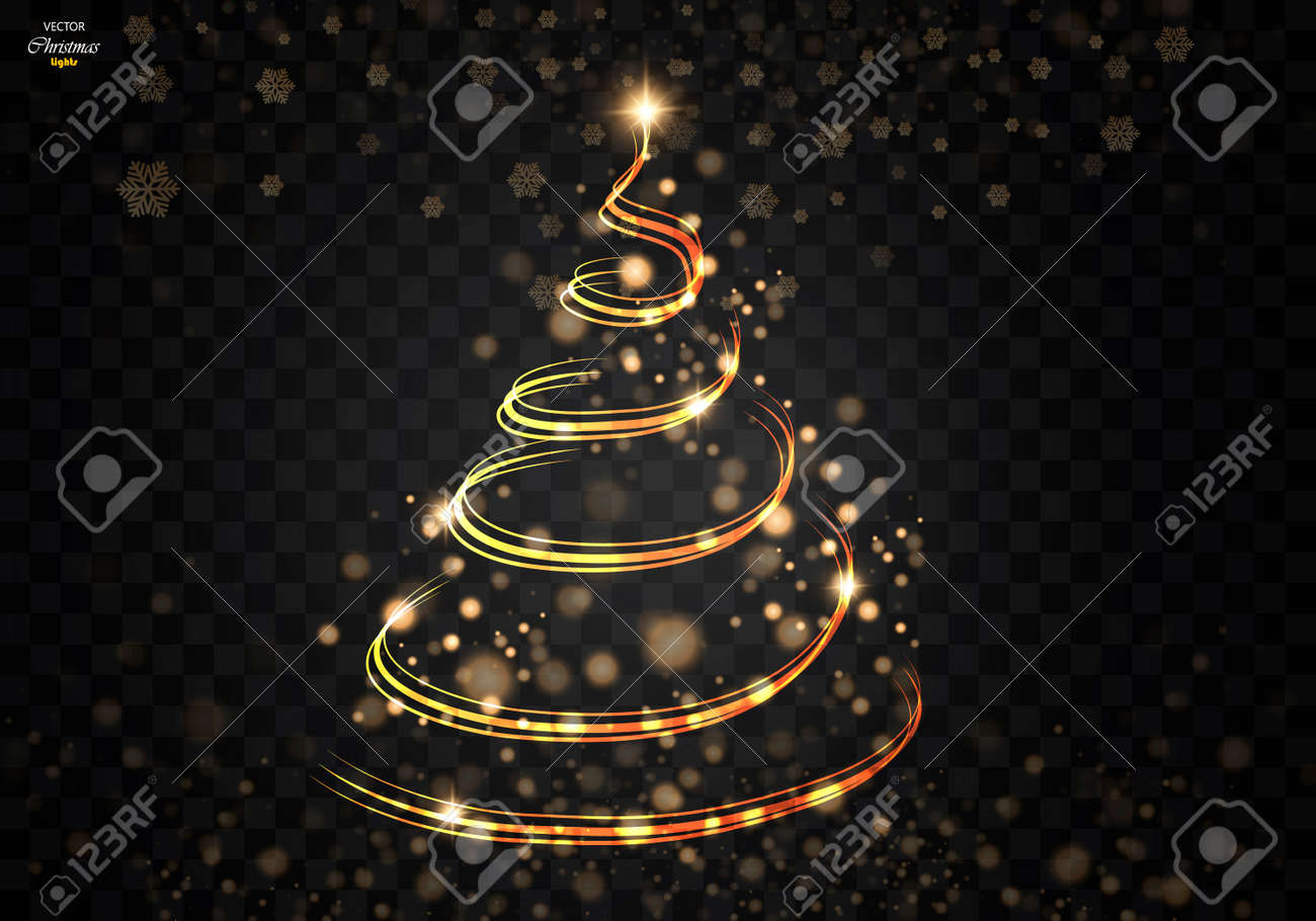 abstract golden christmas tree on black transparent background royalty free cliparts vectors and stock illustration image 86382504 abstract golden christmas tree on black transparent background