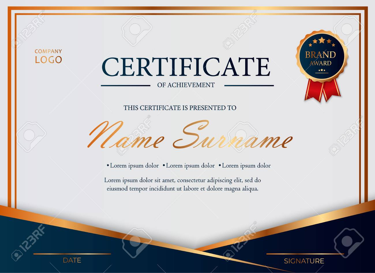 Certificate Of Appreciation Award Diploma Design Template Certificate Royalty Free Cliparts Vectors And Stock Illustration Image 122688328