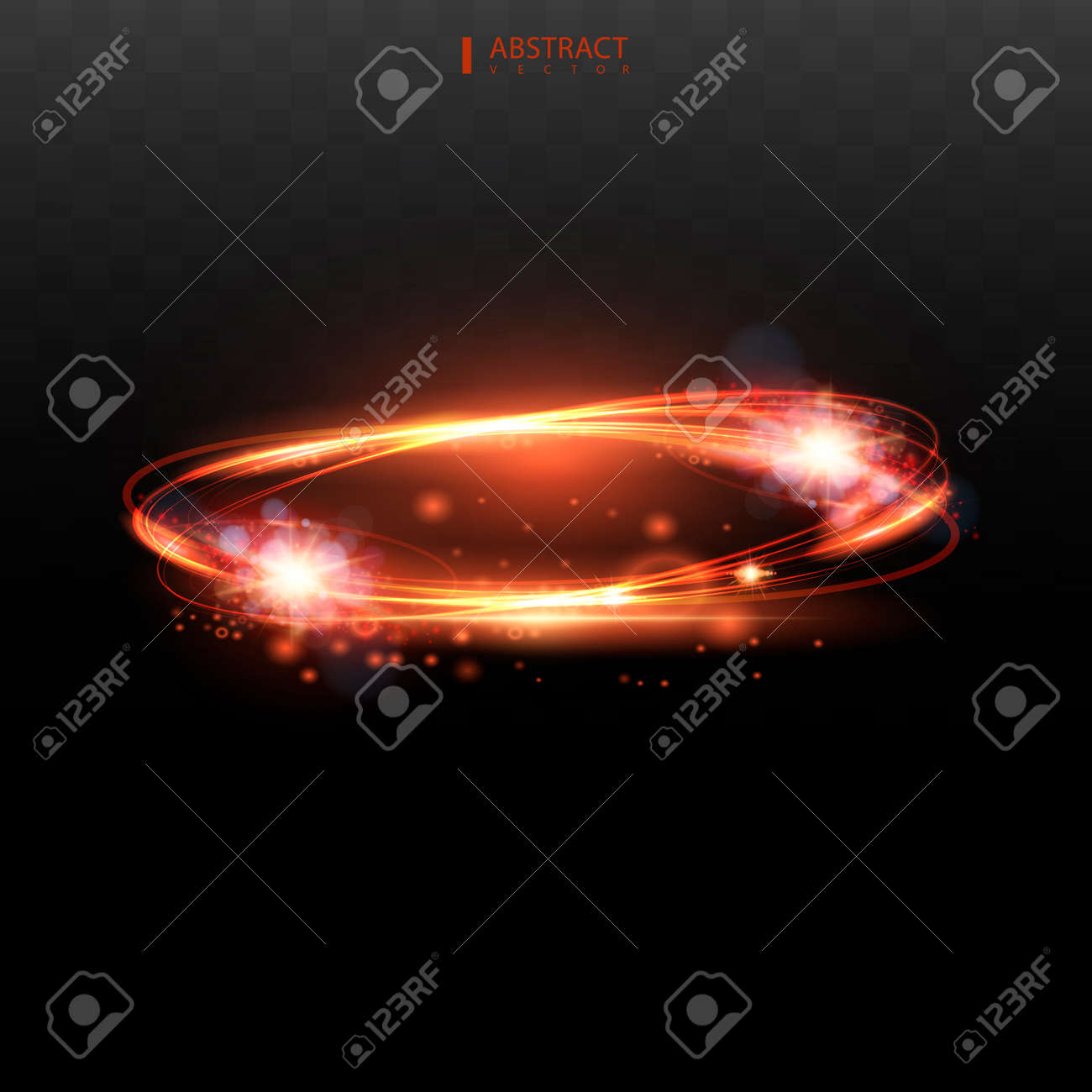 Set Shining star, the sun particles and sparks with a highlight effect, color bokeh lights glitter and sequins. On a dark background transparent. - 170287701