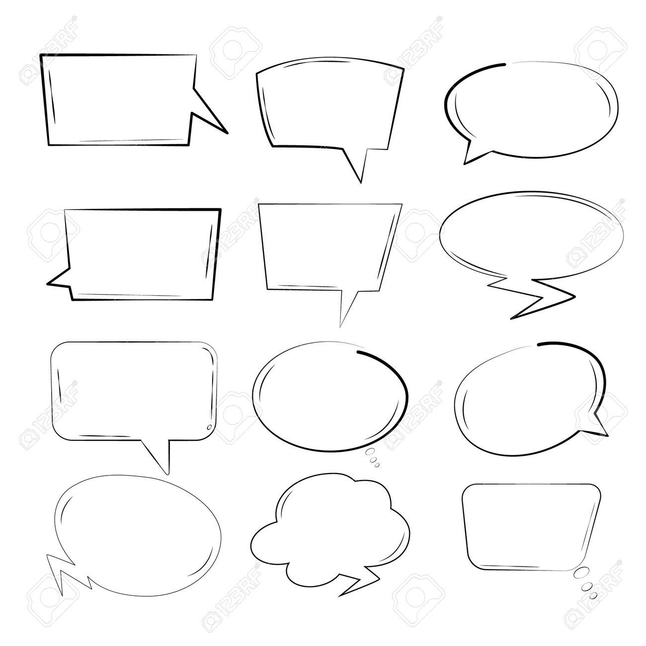 Comic cartoon sound bubble speech. Set comic speech bubble for text. Vector comic - 172194578