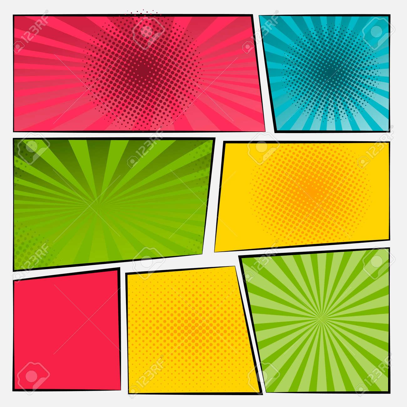 Comic cartoon sound bubble speech. Set comic speech bubble for text. Vector comic - 172194293
