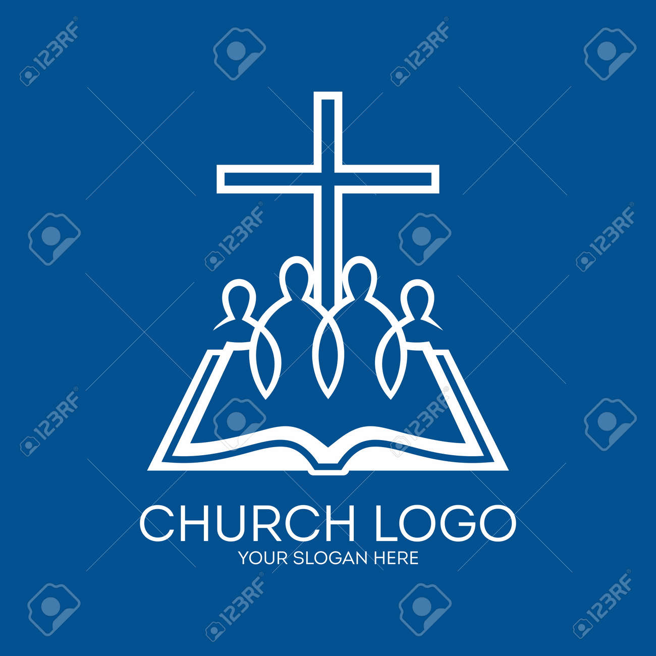 church logo united in christ group of people bible pages
