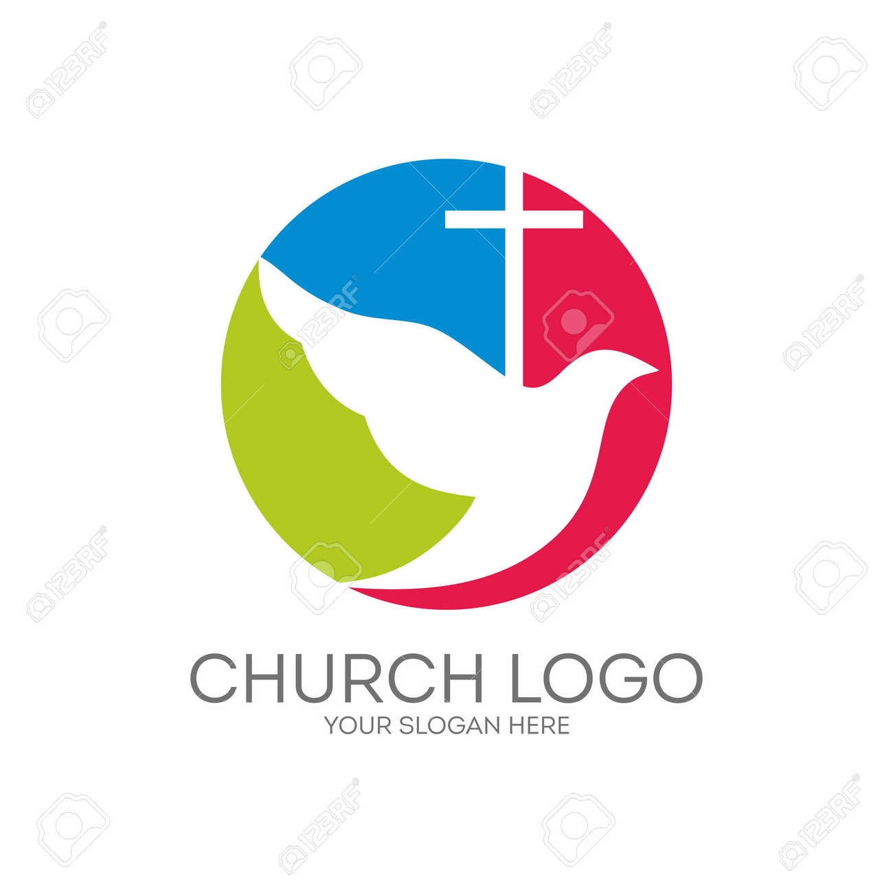 Church logo round dove holy spirit and cross royalty free church logo round dove holy spirit and cross stock vector 46647689 altavistaventures Images