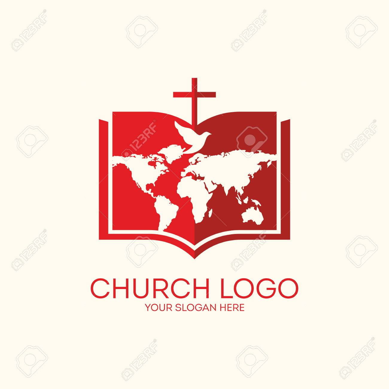 Church logo bible pages world map and cross royalty free cliparts church logo bible pages world map and cross stock vector 46647788 gumiabroncs Gallery
