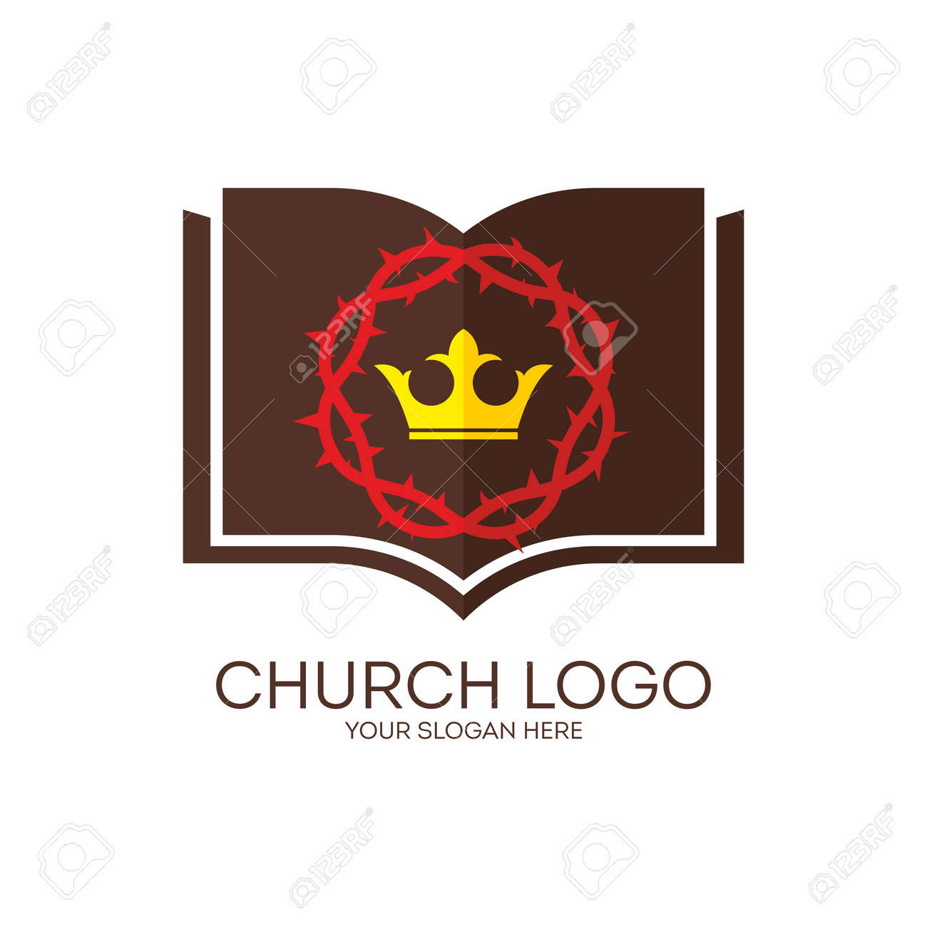 2,318 Church Logo Icon Stock Vector Illustration And Royalty Free ...