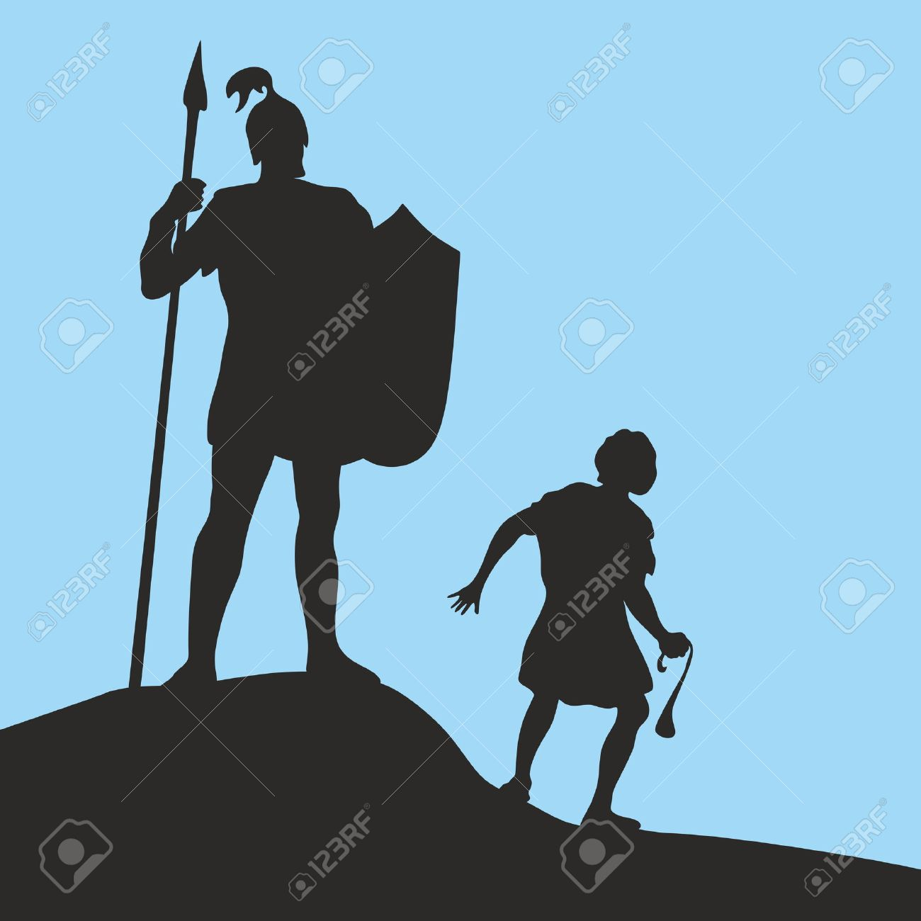 148 david and goliath stock vector illustration and royalty free
