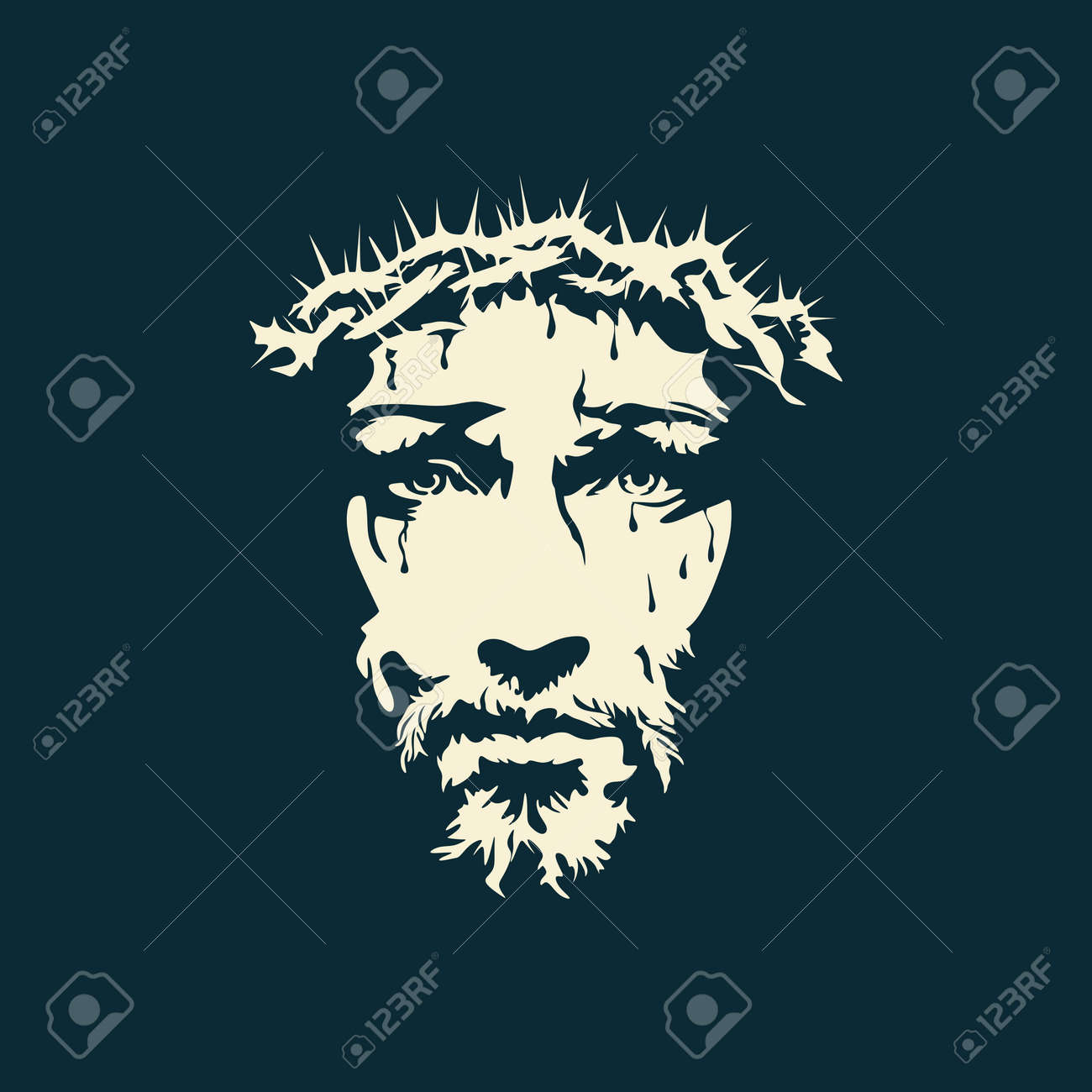 Face of Christ hand drawn - 47426016